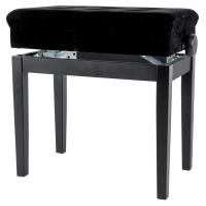 GEWA Pianobank Deluxe Compartment Schwarz Hochglanz