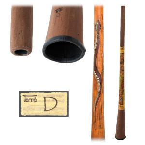 TERRÉ Baked wood Didgeridoo D