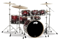 PDP BY DW Shellset Concept Maple Red To Black Sparkle