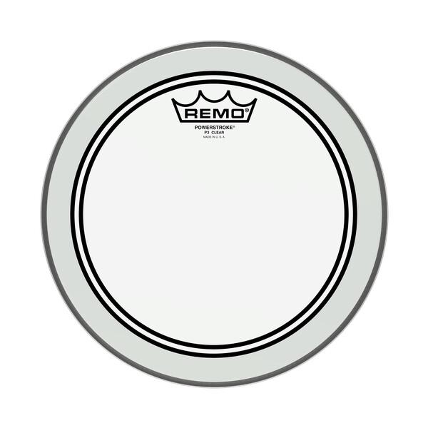 "REMO Powerstroke 3 Transparent P3-0310-BP 10"""