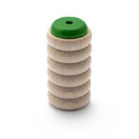Rohema Glöckchenshaker grün gefüllt mit Glöckchen