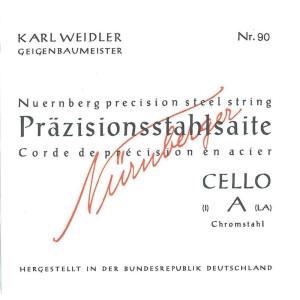 NÜRNBERGER Cello-Saiten Präzision 94, 1/4 Satz