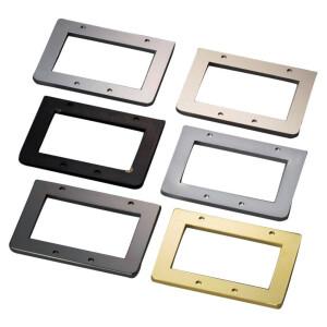 SCHALLER E-Bass-Steg Unterlegplatte - 3D-4 / 3D-8 Satinchrome
