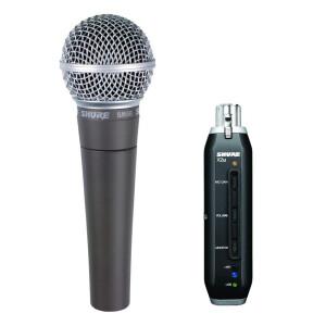 SHURE Mikrofon SM 58 + X2U mit USB Adapter