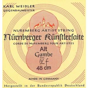NÜRNBERGER Gambe-Saiten Künstler Seilkern. Chromstahl umsponnen Satz