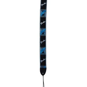 FENDER Gitarrengurt black/light grey/blue