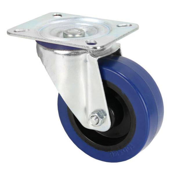 Adam Hall Lenkrolle, 100 mm, mit blauem Rad