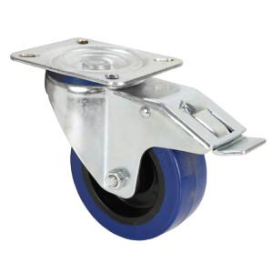 ADAM HALL  Lenkrolle, 100 mm, mit blauem Rad und Feststeller