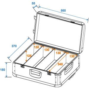 ROADINGER CD-Case schwarz 120 CDs mit Trolley