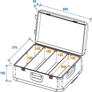 ROADINGER CD-Case poliert 120 CDs mit Trolley
